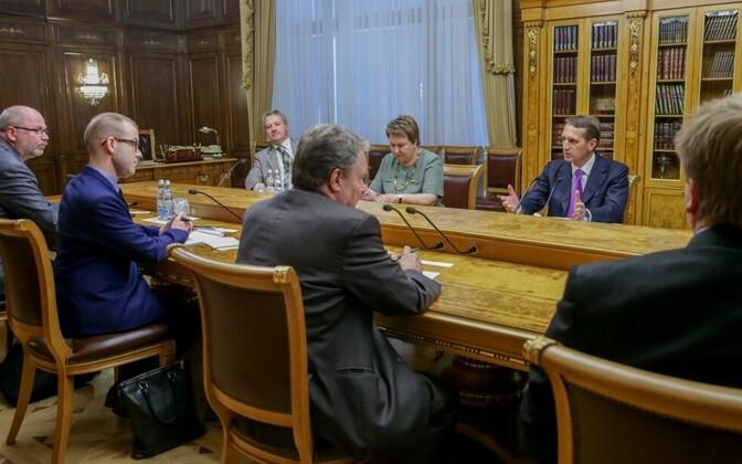 Narõškin Soome rahvasaadikutega kohtumas.