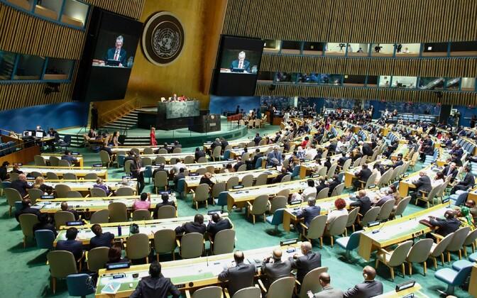 Hääletamine ÜRO peaassambleel.