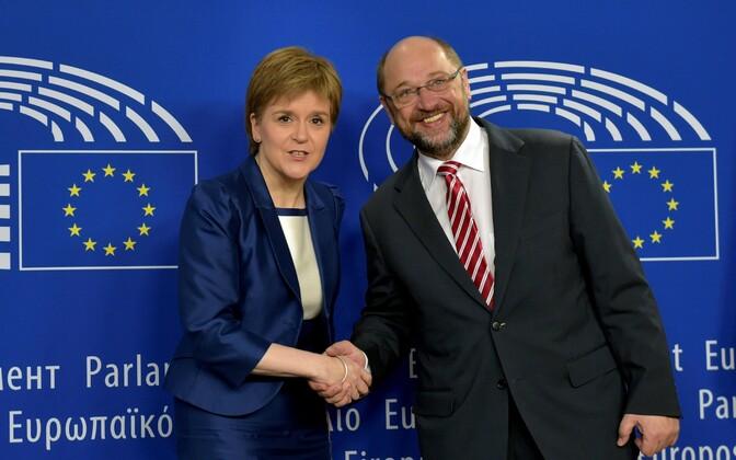 Nicola Sturgeon ja Martin Schulz täna Brüsselis.