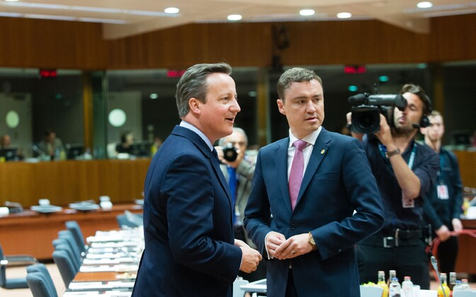 Prime ministers David Cameron (UK) and Taavi Rõivas in Brussels, Jun. 28, 2016