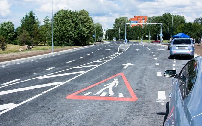 Отремонтированный участок Палдиского шоссе.