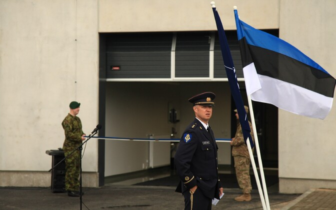 At the opening of a new building for allied troops in Tapa in spring 2016.