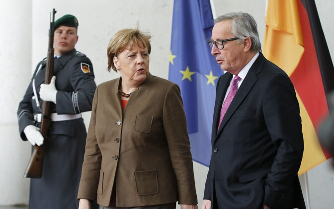 Angela Merkel ja Jean-Claude Juncker.