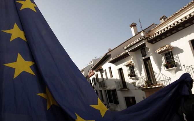Euroopa Liidu lipp Hispaanias Ronda linnas.