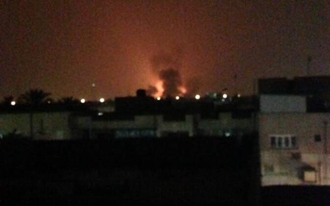 Plahvatustekuma Bagdadi lennujaama juures.