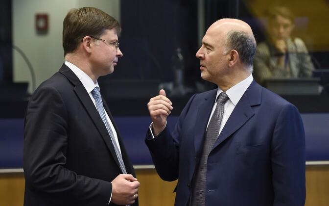 Valdis Dombrovskis ja Pierre Moscovici.