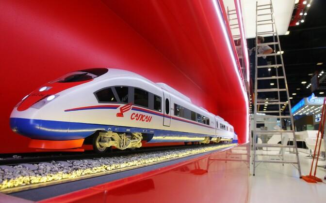Venemaa Raudtee väljapanek Peterburis toimunud messil.
