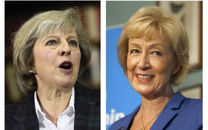 Theresa May ja Andrea Leadsom.