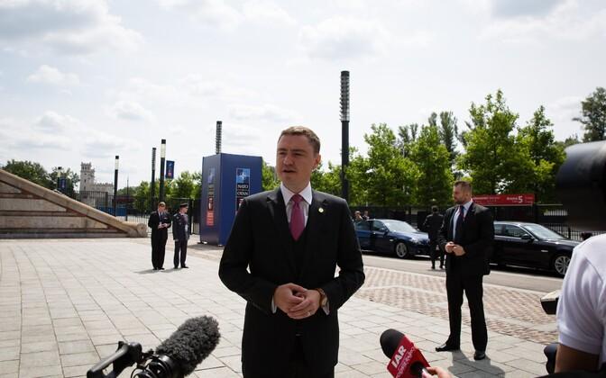 Peaminister Taavi Rõivas Varssavis.