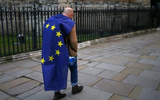 EL-is jätkamist toetanud meeleavaldaja.
