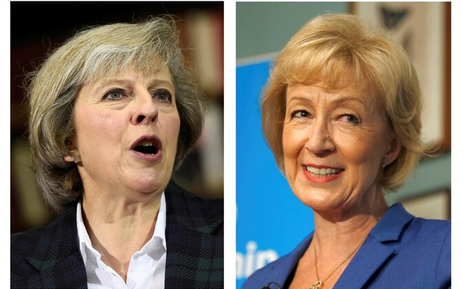 Theresa May (vasakul) ja Andrea Leadsom.