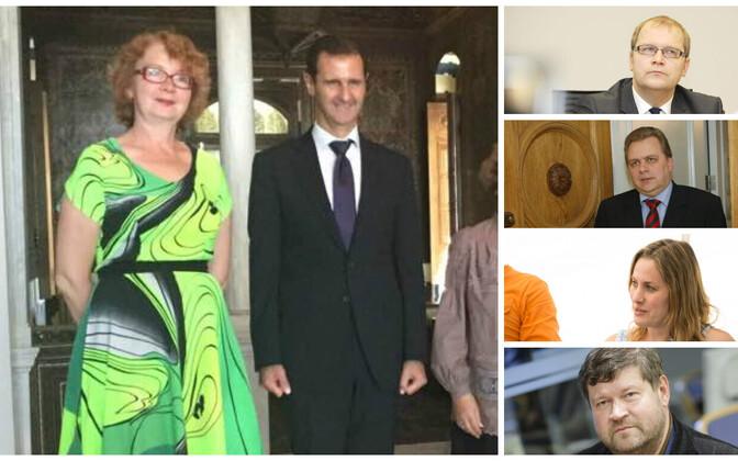 Yana Toom kohtus pühapäeval Süüria presidendiga.