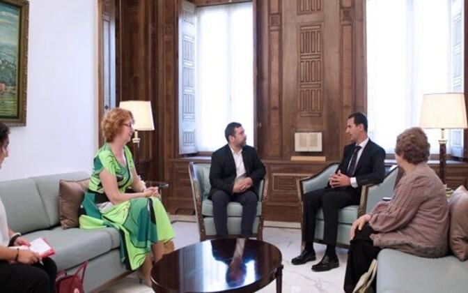 Yana Toom kohtumisel Süüria presidendi Bashar al-Assadiga.