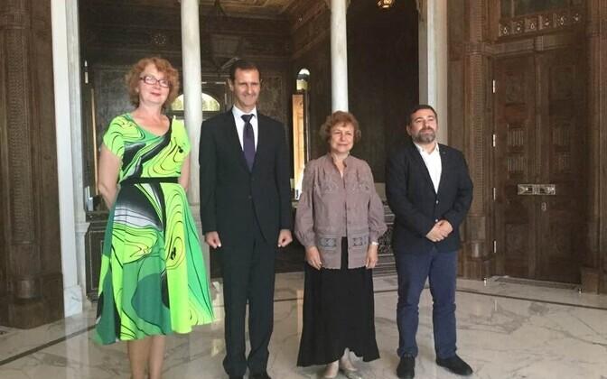 Yana Toom eelmine kord Euroopa Parlamendi delegatsiooniga Damascuses kohtumisel president Bashar al-Assadiga.