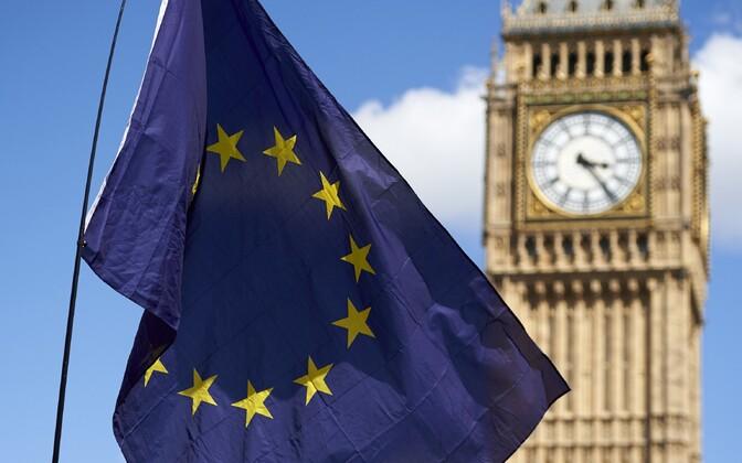 Euroopa Liidu lipp Londonis.