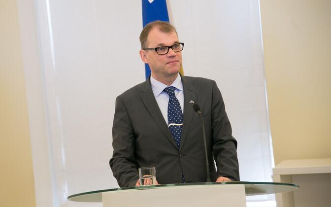 Juha Sipilä eelmisel suvel Tallinnas.