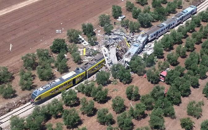 Rongiõnnetuse sündmuskoht Apuulia maakonnas.