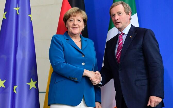 Angela Merkel ja Enda Kenny.