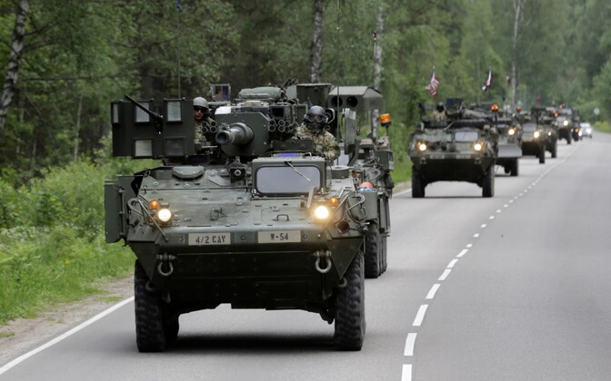 USA soomukid Lätis.