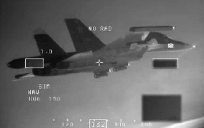 2015 photo released by the Danish Ministry of Defense, which shows a Russian SU-34 over the Baltic. The plane's transponder was reportedly switched off.