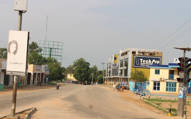 Lahingute tõttu hüljatud tänav Jubas.
