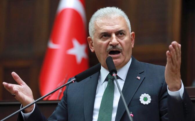 Türgi peaminister Binali Yildirim.