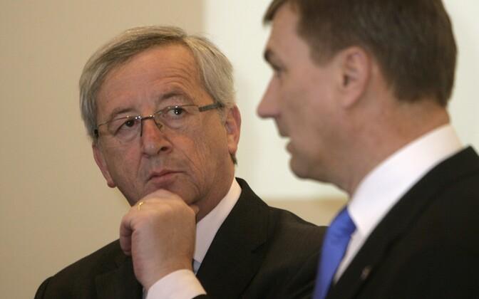 Juncker ja Ansip 2011. aastal Tallinnas.