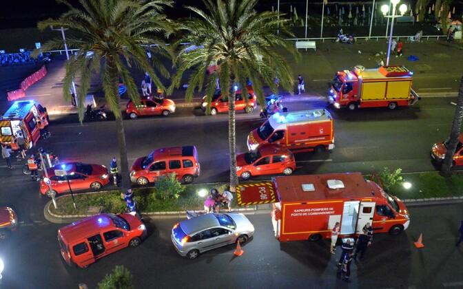 Sündmuskoht Nice'i linnas.