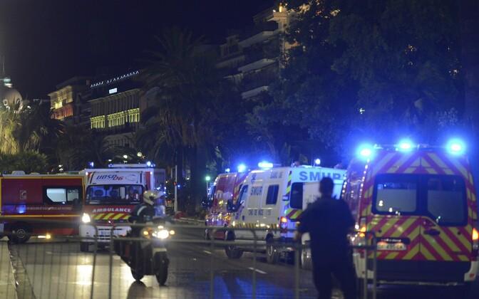 Sündmuskoht Nice'is.