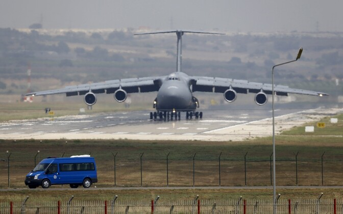 USA õhujõudude kaubalennuk Incirliki õhuväebaasis.