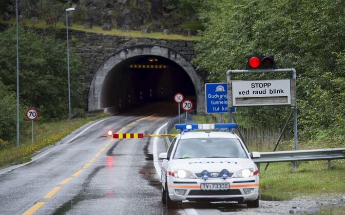 Politseiauto Norras. Illustreeriv foto.
