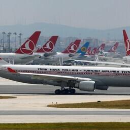Turkish Airlinesi lennukid Atatürki rahvusvahelises lennujaamas Istanbulis.