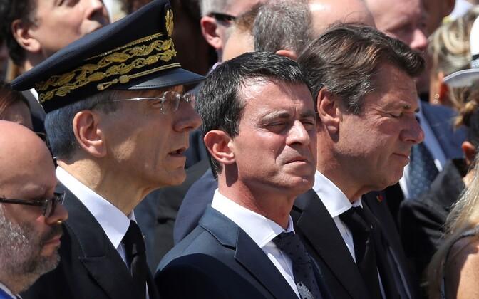 Prantsuse peaminister Manuel Valls mälestusüritusel.