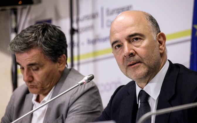 Tsakalotos (vasakul) ja Moscovici.