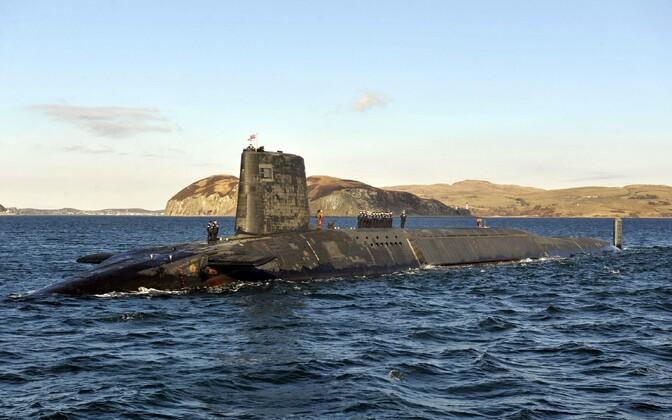 Tridenti ballistilist tuumaraketti kandev allveelaev HMS Victorious (S29).