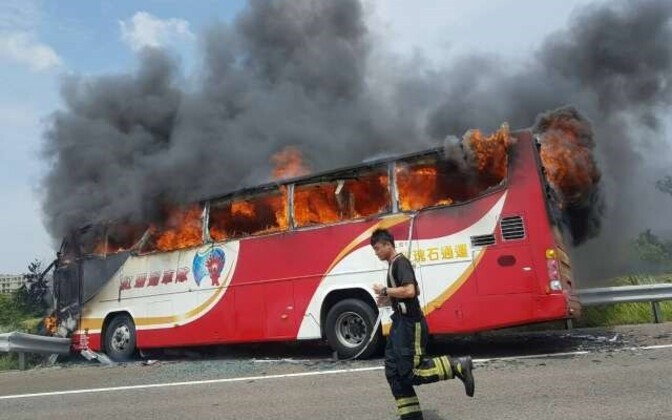 Bussiõnnetus Taiwanil.