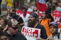 Liikumise Stop Trump aktivistid.