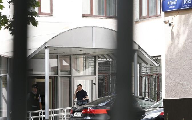 Läbiotsimine Venemaa uurimiskomitee Moskva haru hoones.