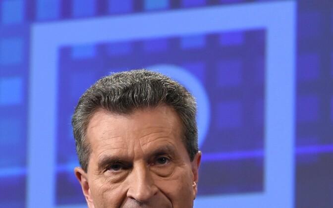 Euroopa Komisjoni digitaalmajanduse ja -ühiskonna volinik Günther Oettinger.