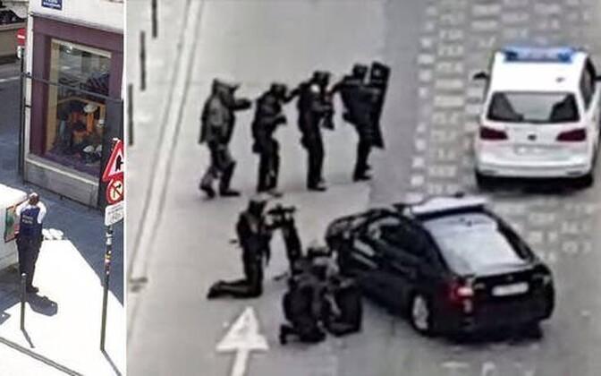 Politseioperatsioon Brüsseli kesklinnas 20. juulil.