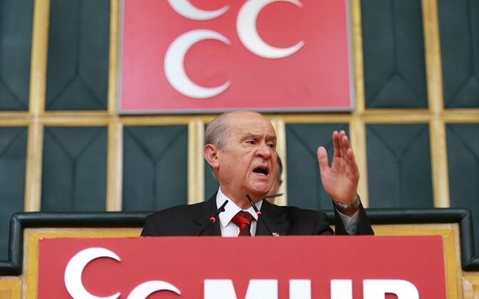 Natsionalistliku Liikumise (MHP) liider Devlet Bahceli.