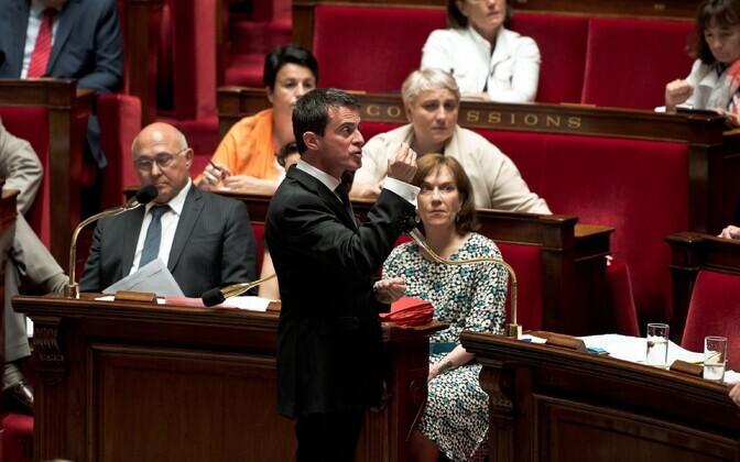 Prantsusmaa peaminister Manuel Valls parlamendis.