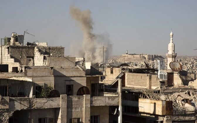 Sõjast räsitud Aleppo linn 12. juulil.