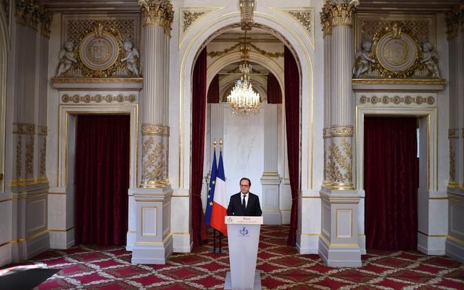 Prantsuse president François Hollande avaldust tegemas.