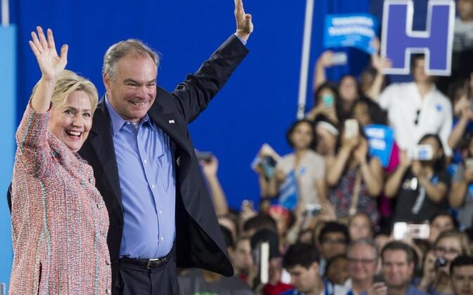 Hillary Clinton ja Tim Kaine 14. juulil Virginias toimunud kampaaniaüritusel.