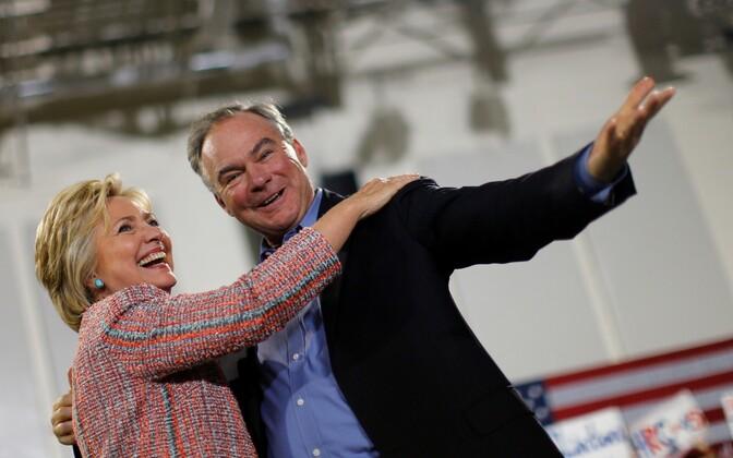 Hillary Clinton ja Tim Kaine.