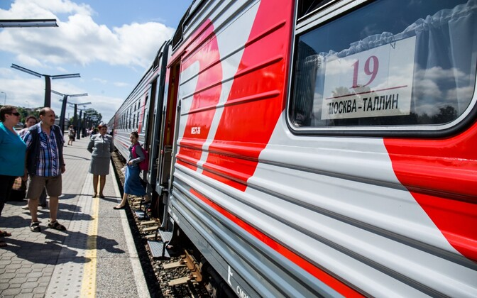 Поезд Москва - Таллинн. Иллюстративное фото.