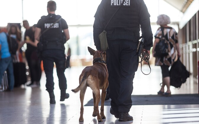 K9 unit patrolling at Tallinn Airport.