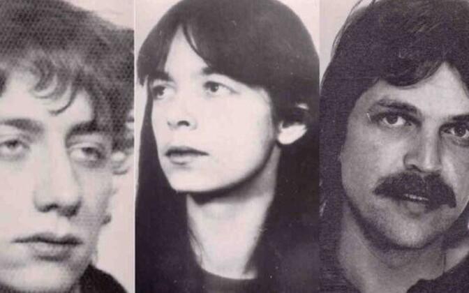 Vasakterroristide vanad fotod: (vasakult) Burkhard Garweg, Daniela Klette ja Ernst-Volker Staub.