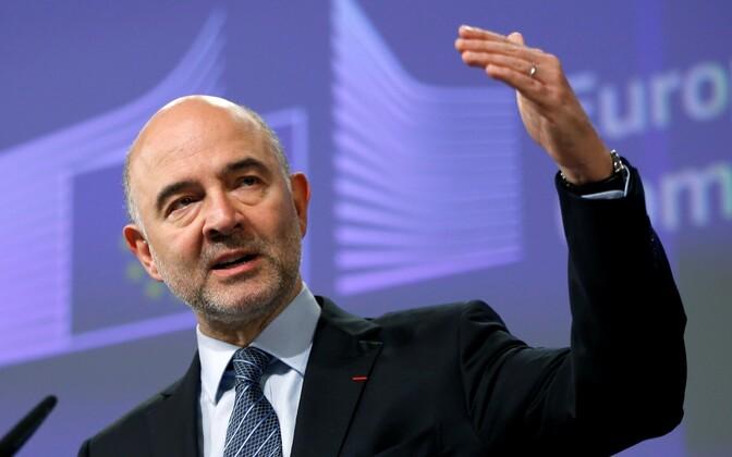Majandus- ja rahandusküsimuste, maksunduse ning tolli volinik Pierre Moscovici.